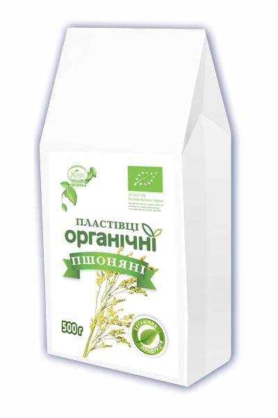 органічні пшоняні пластівці