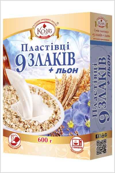 суміш 9 злаків +льон