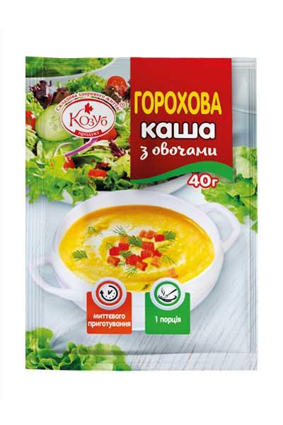 Каша горохова з овочами