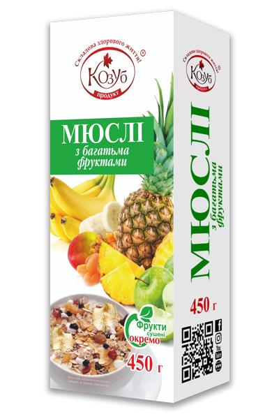 Мюслі з багатьма фруктами Козуб продукт